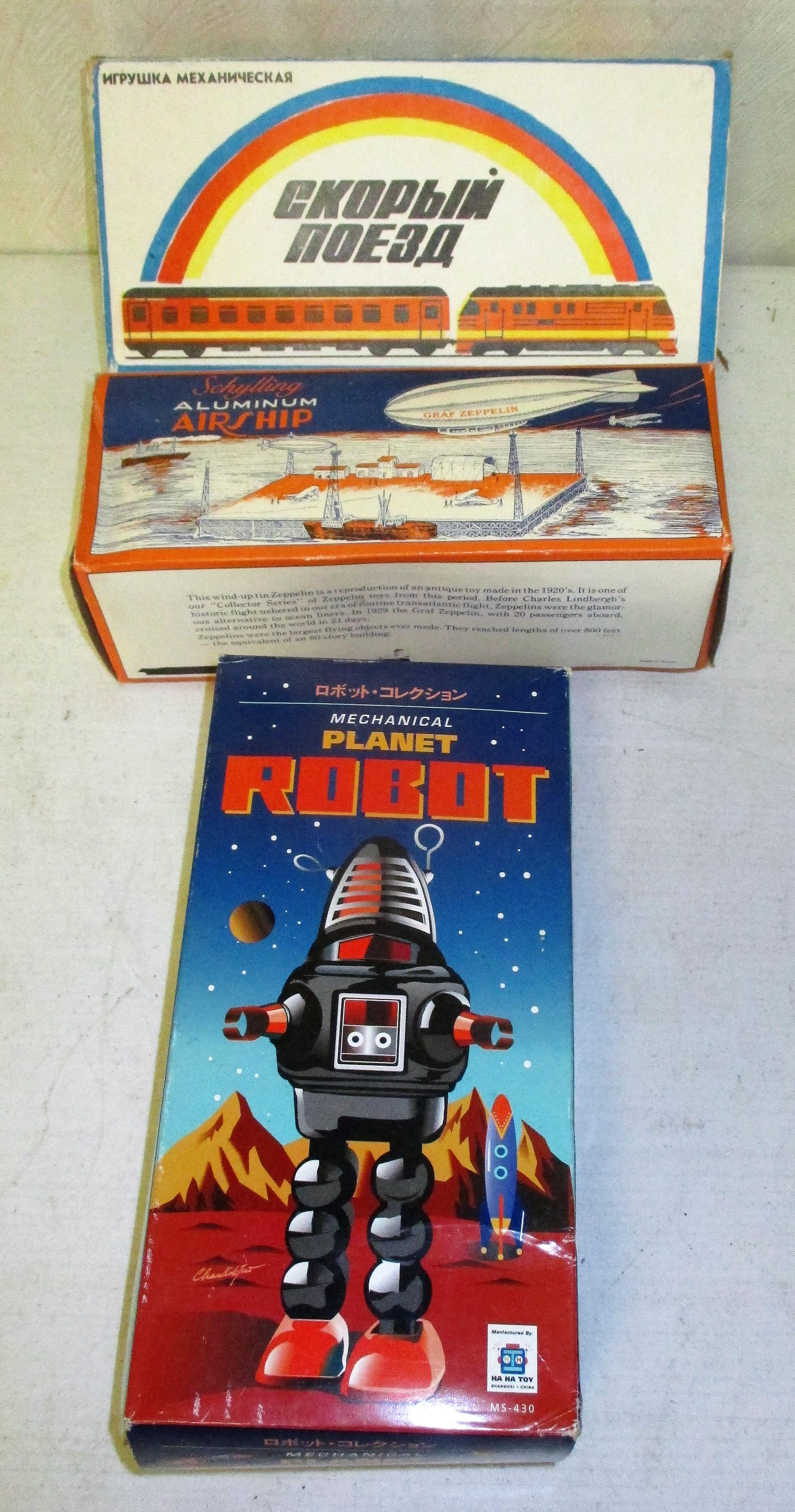 195: Train, Zepplin And Robot Toys