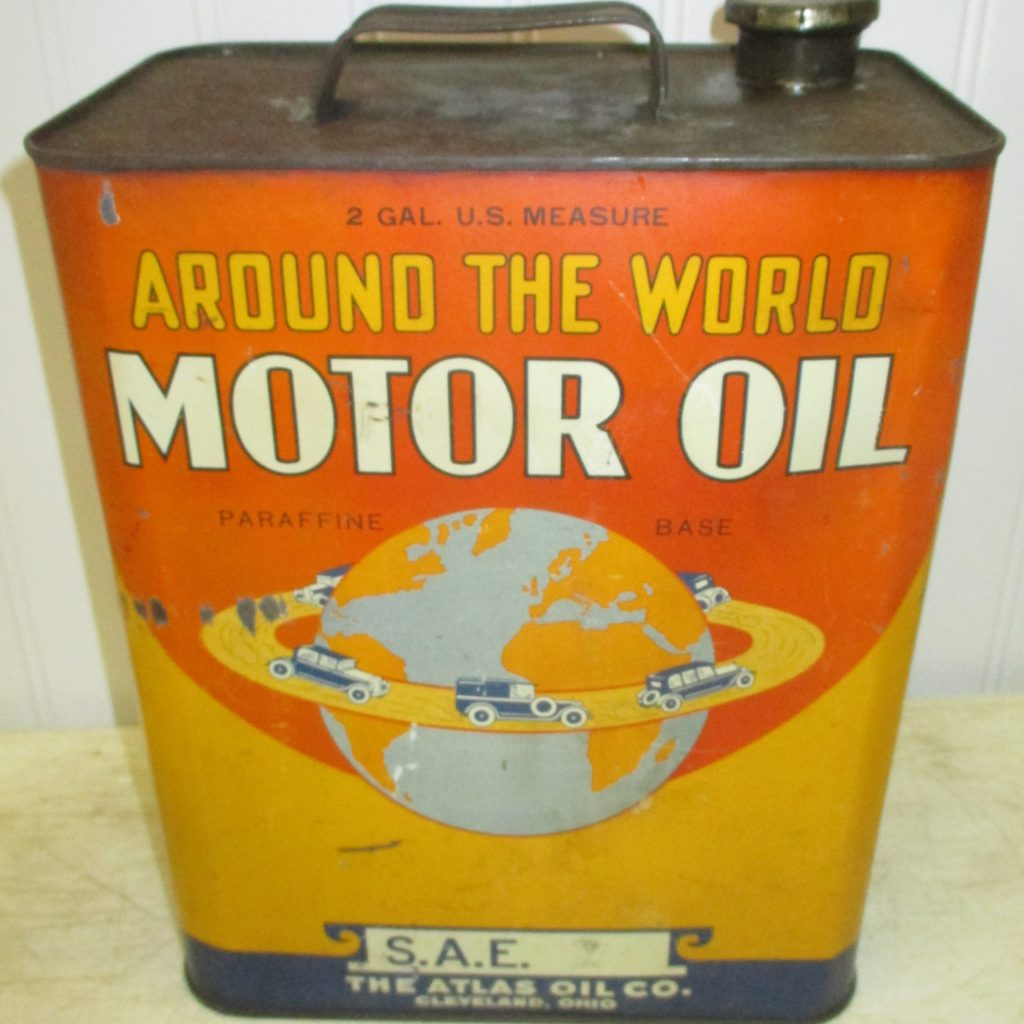 Around The World Atlas Oil Can
