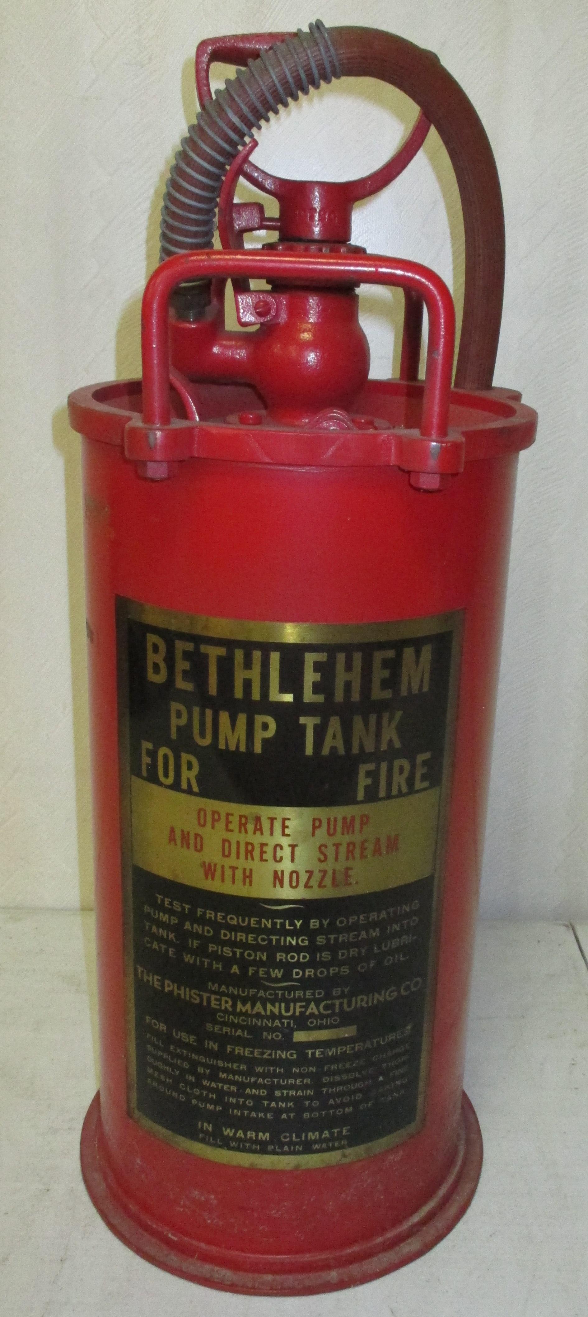 213: Pump Tank Tire Extinguisher