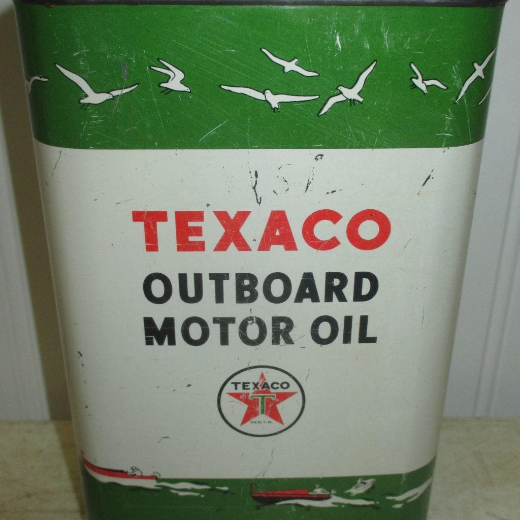 Texaco Outboard Oil Can