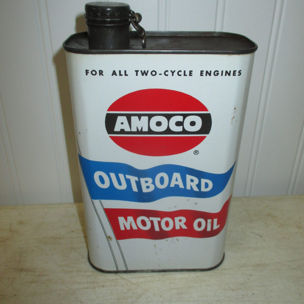 Amoco Outboard Oil Can
