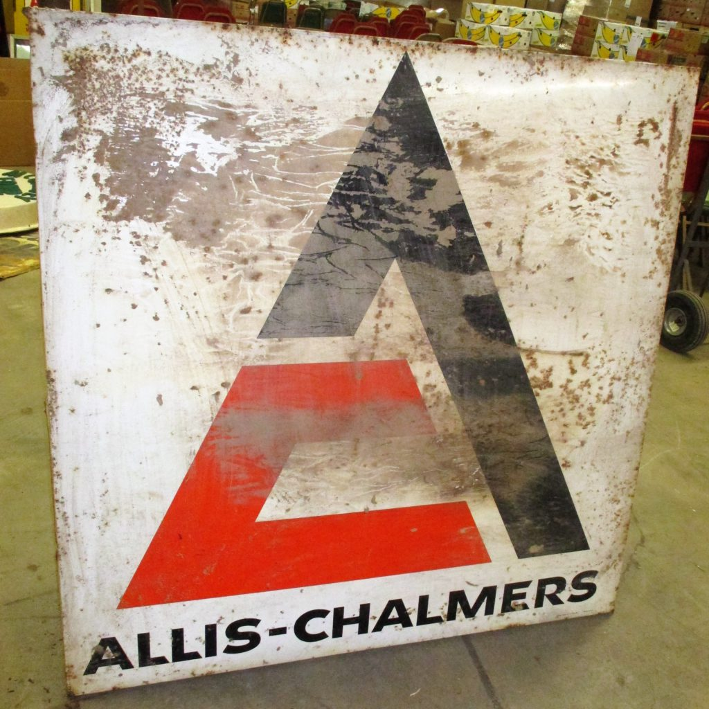 129: Allis Chalmers Tin Sign