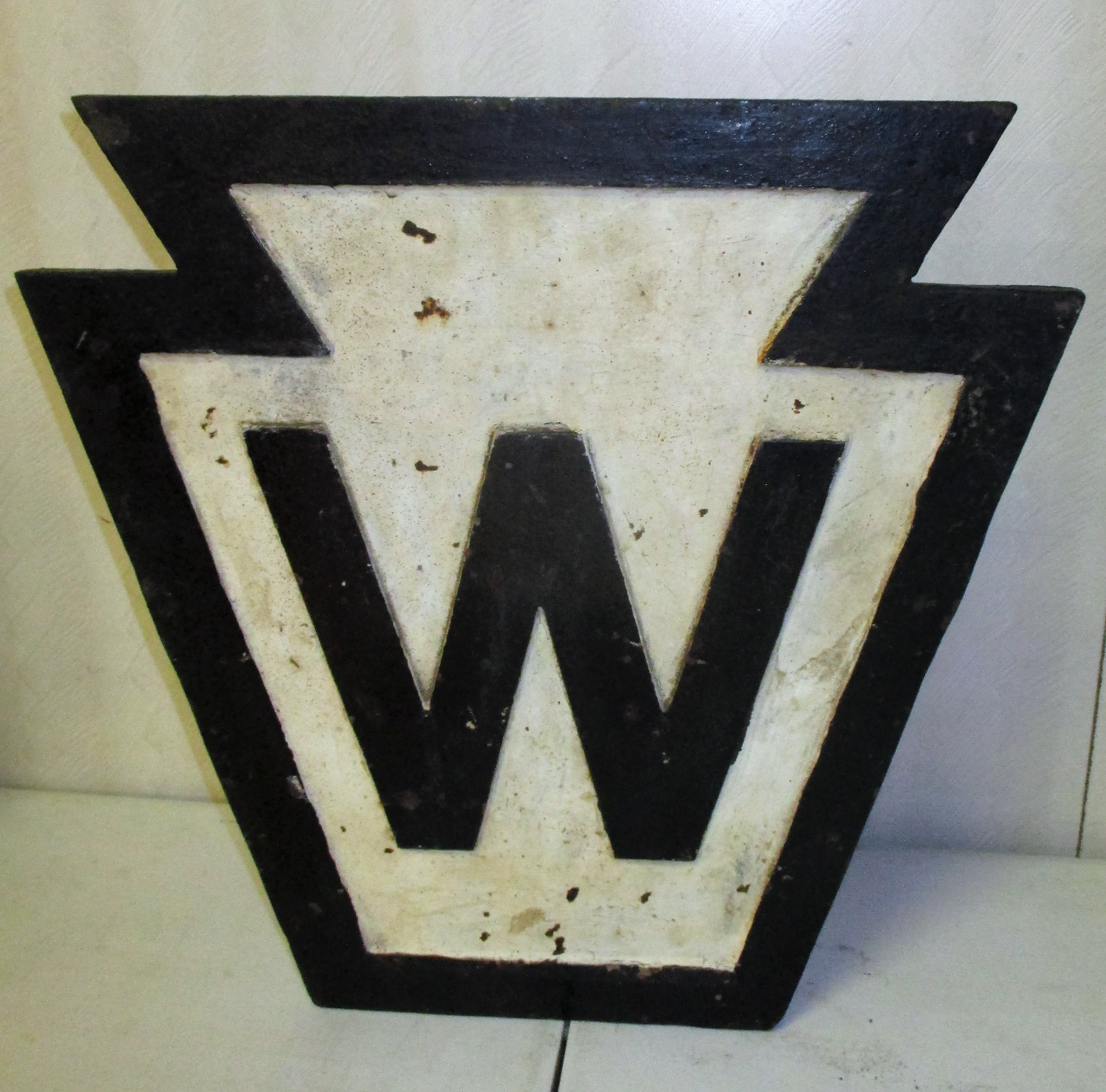 133:  Cast Iron Railroad Whistle Marker