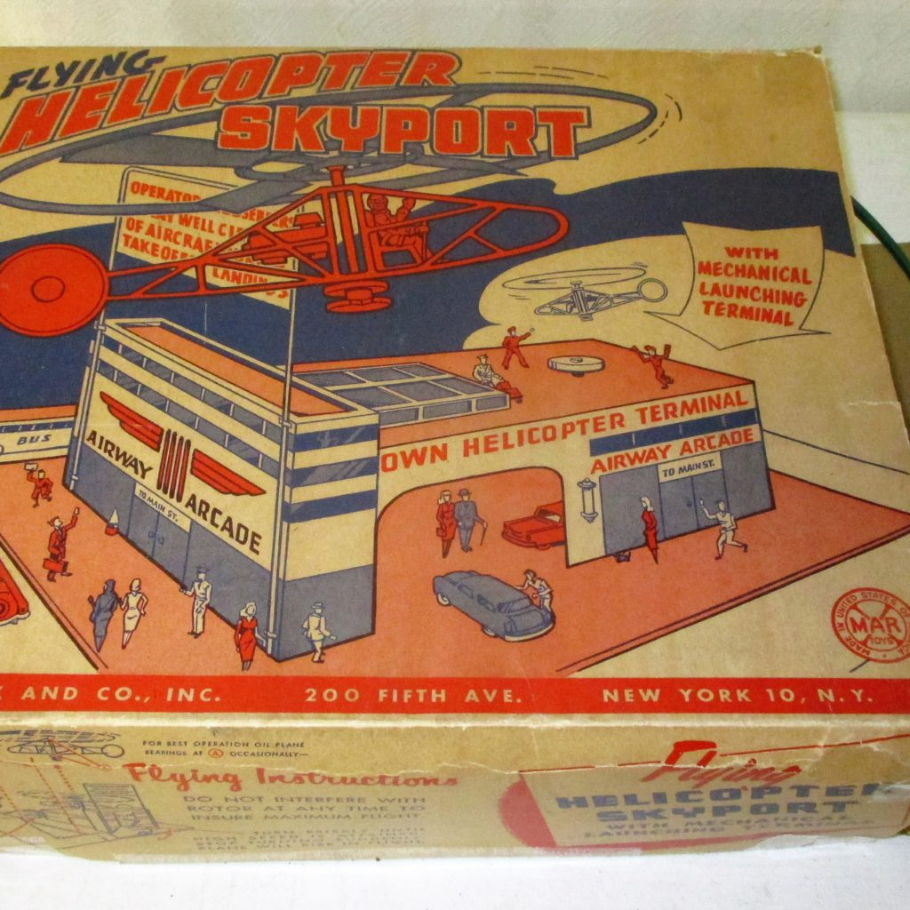146: Marx Flying Helicopter Skyport Original Box