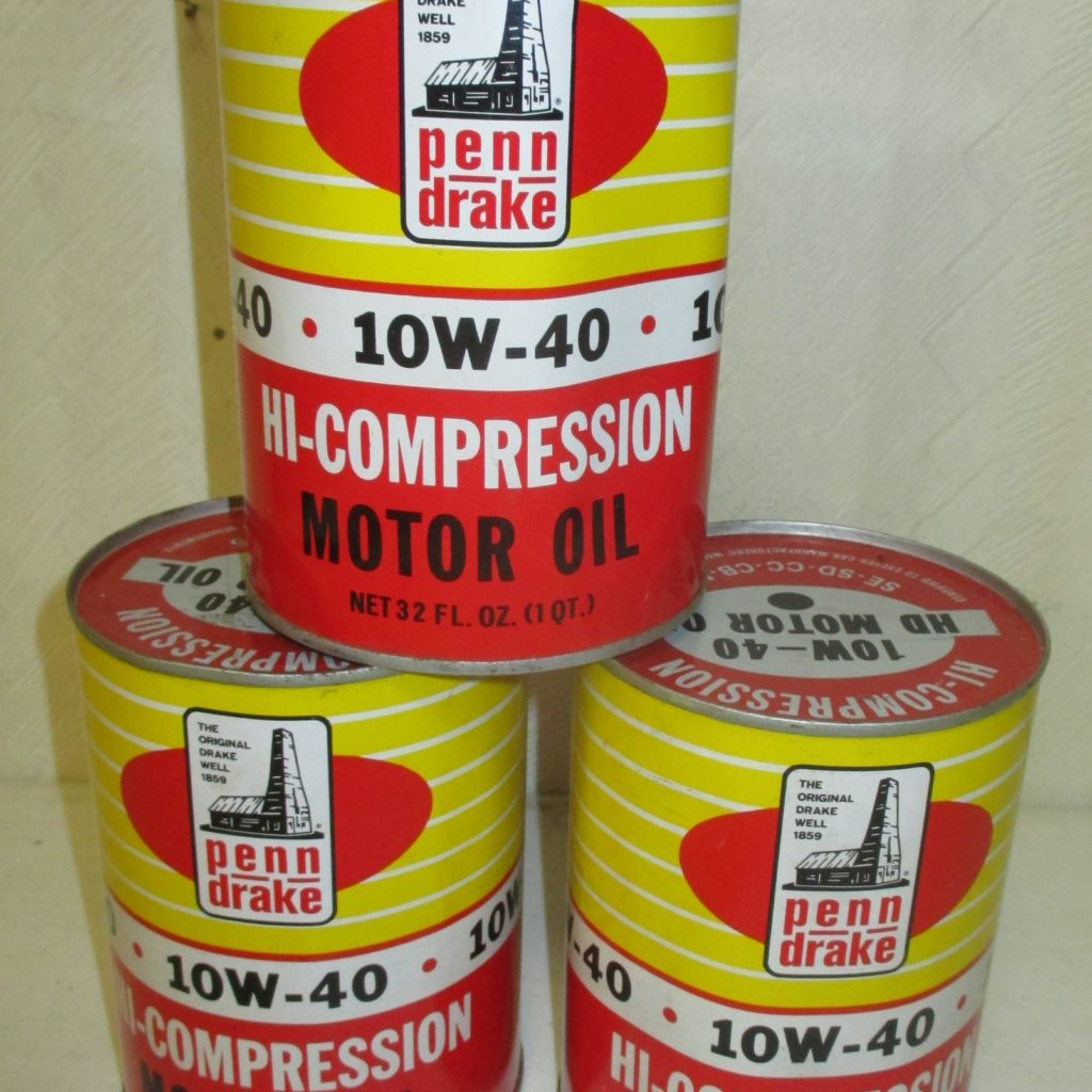 32: (3) Penn Drake Oil Cans