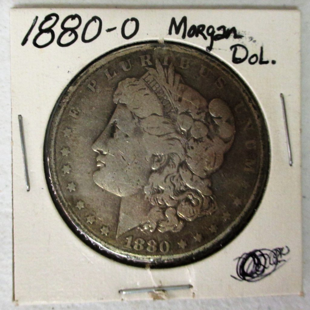 39: 1880 O Morgan Silver Dollar