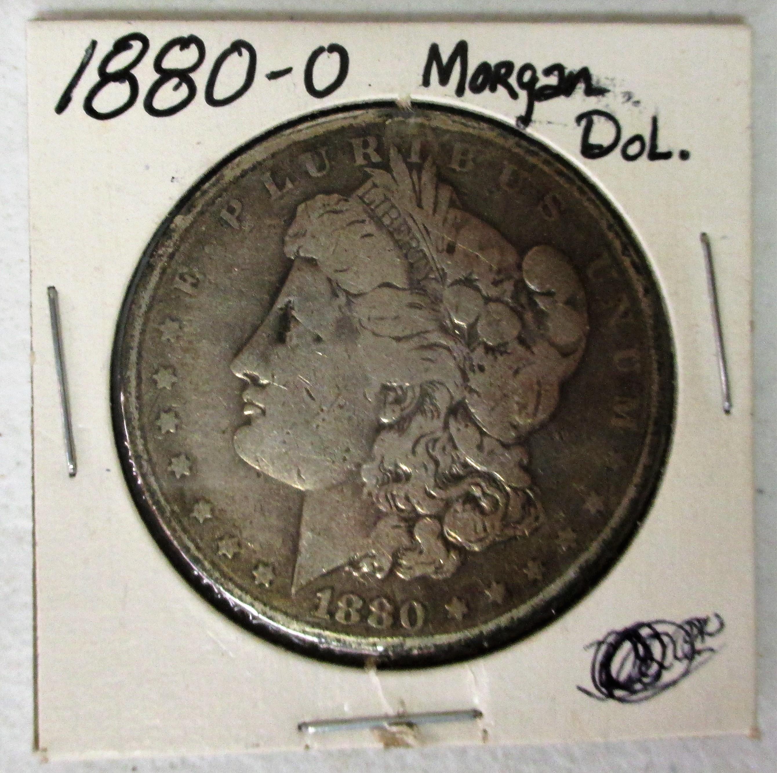 39: 1880 O Morgan Silver Dollar
