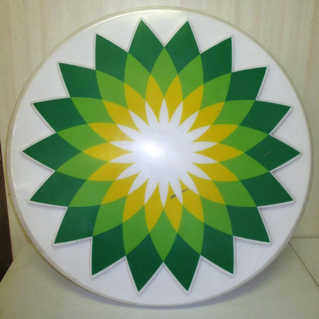 44: BP Plastic Sign