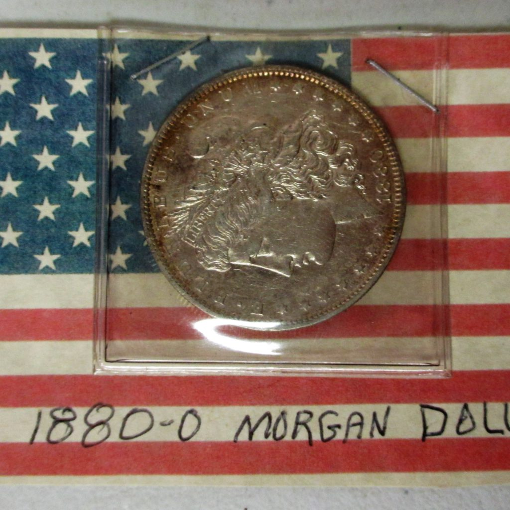 45: 1880 O Morgan Silver Dollar