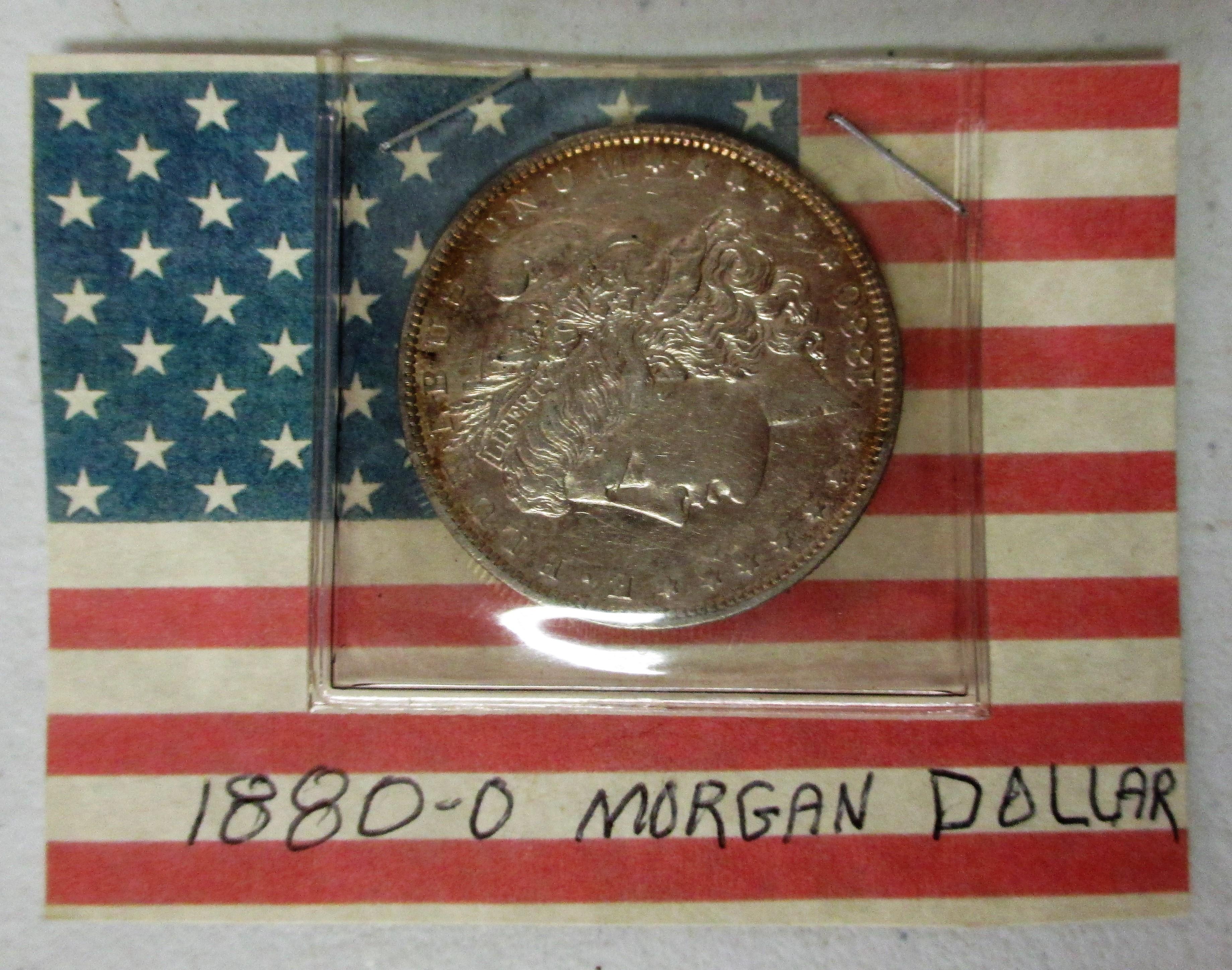 45: 1880 O Morgan Silver Dollar