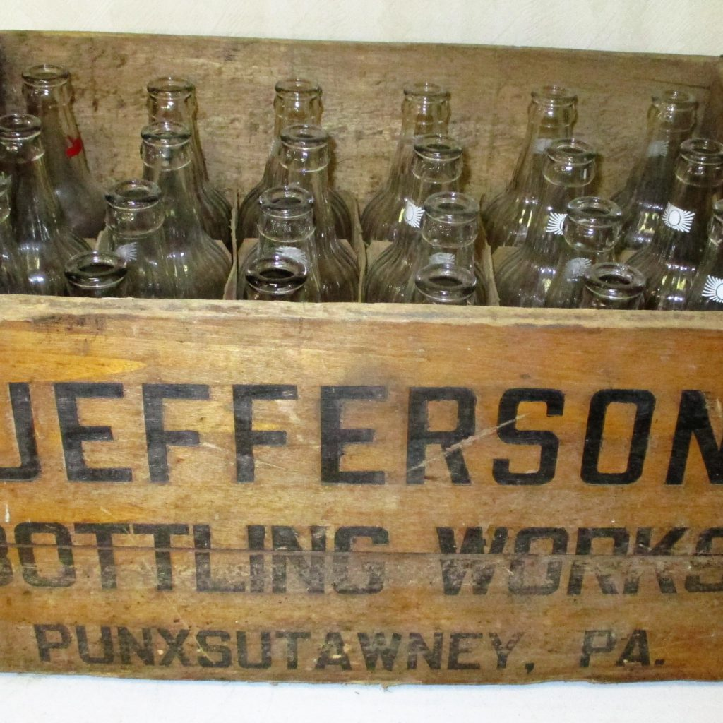 46: Jefferson Bottling Crate And Bottles