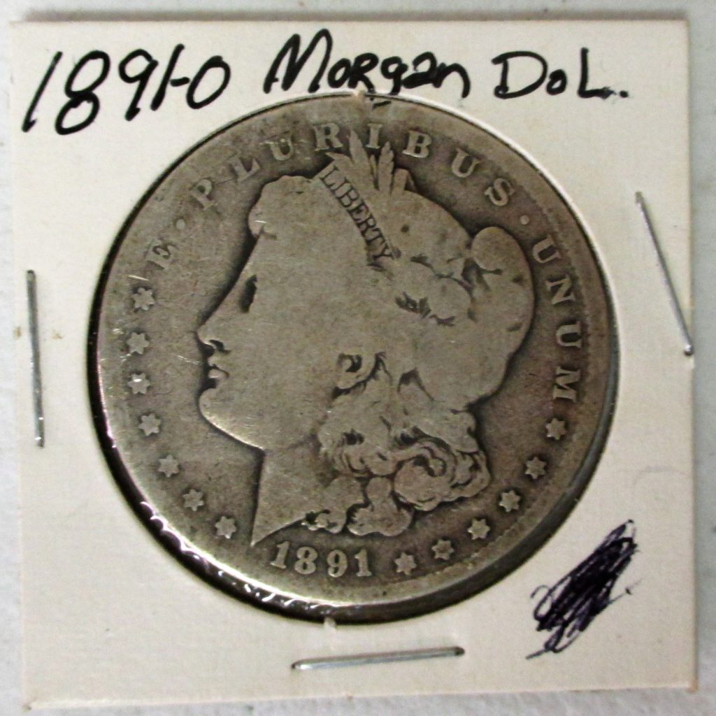 54: 1891 O Morgan Silver Dollar