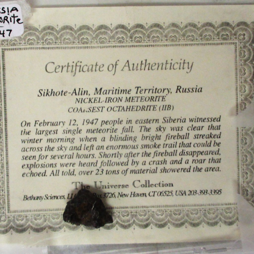 59: 1947 Russian Meteorite