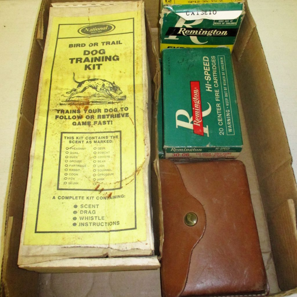 65: Vintage Ammo And Dog Training Kit