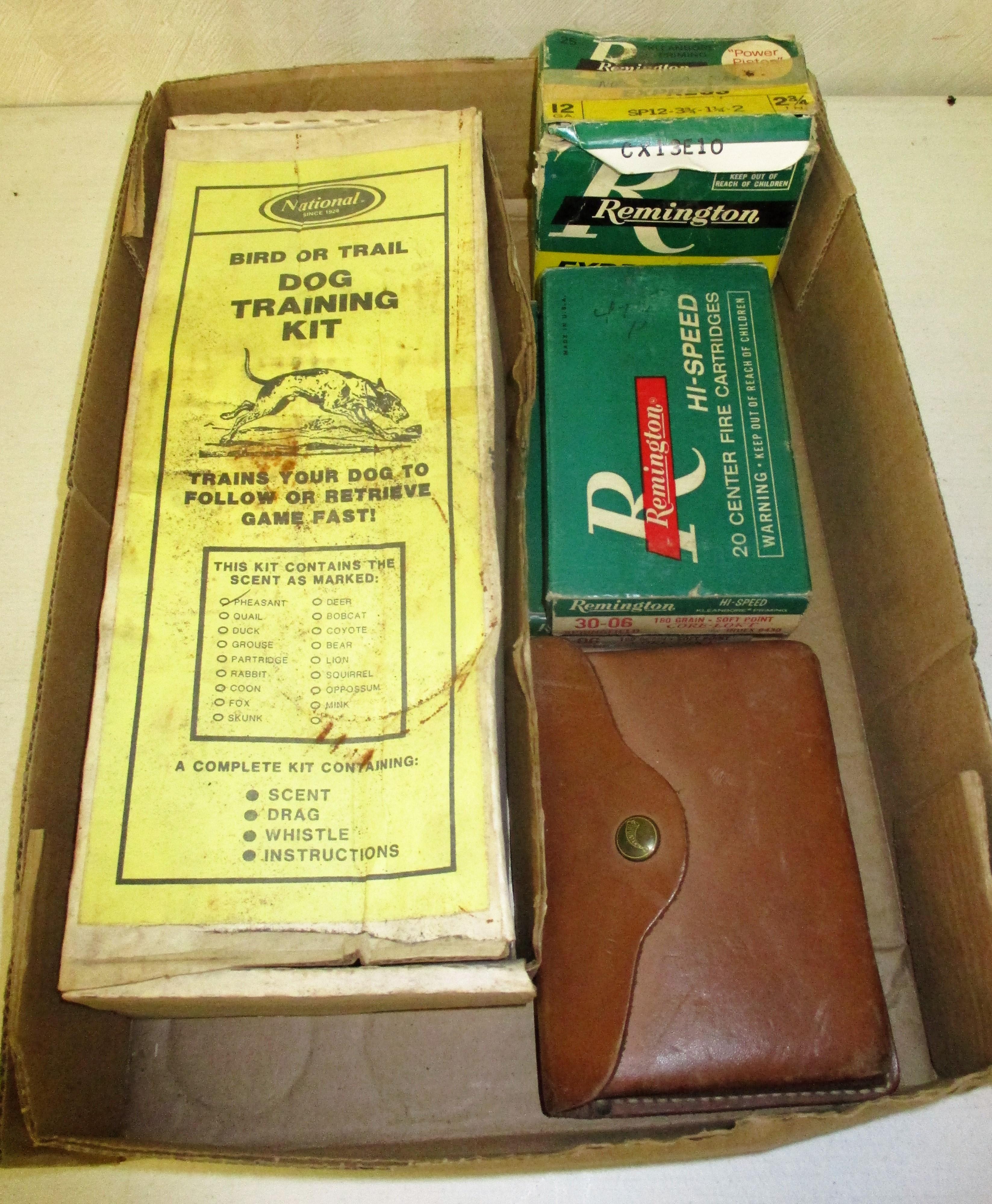 65: Vintage Ammo And Dog Training Kit