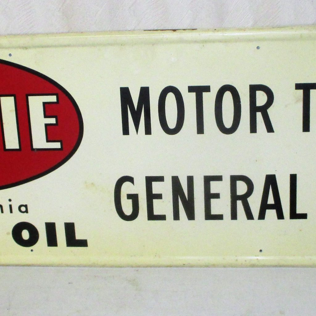 68: Amalie Tin Motor Oil Sign