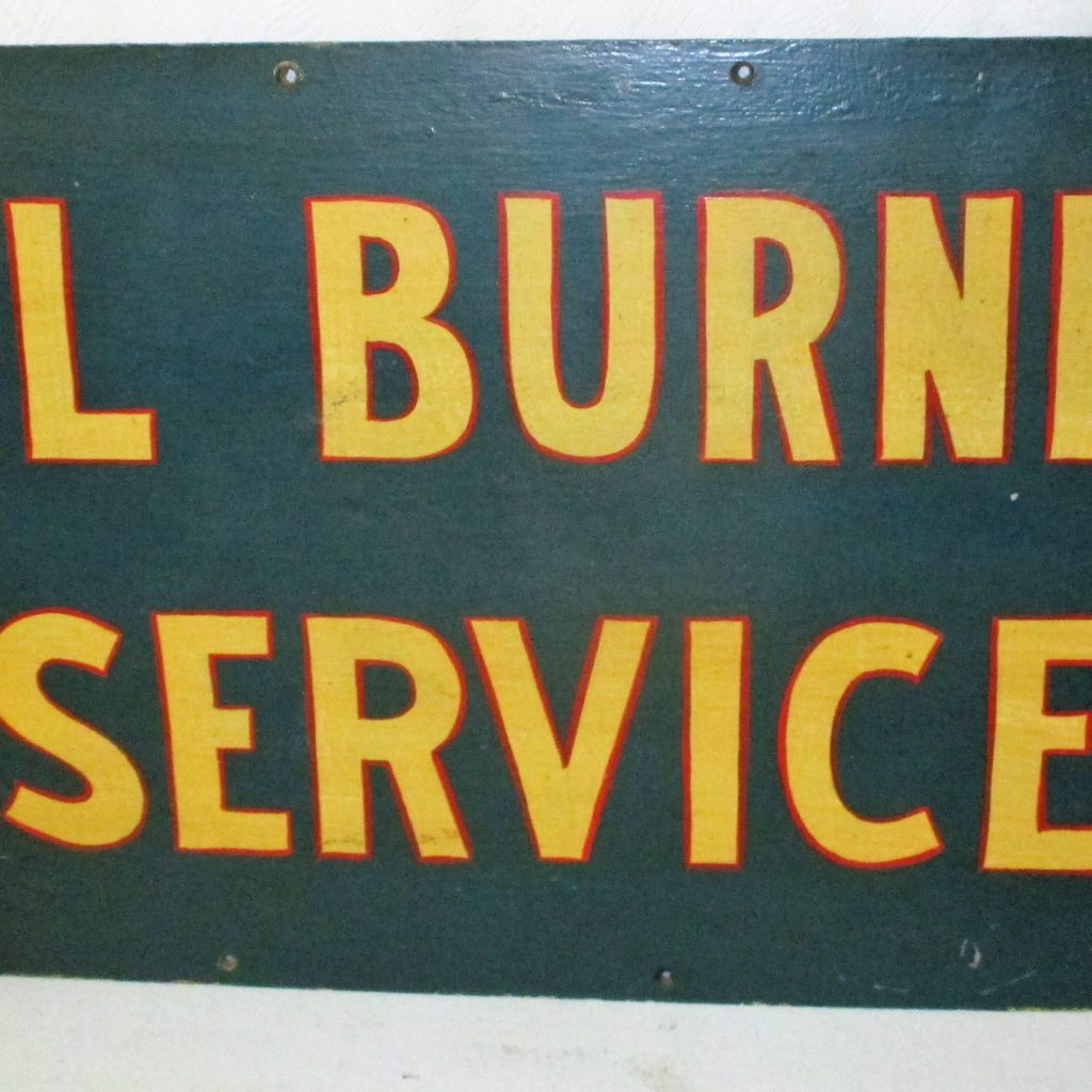 69: Oil Burner Sign