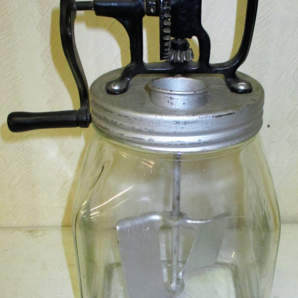 83: Daisy 4qt Glass Butter Churn