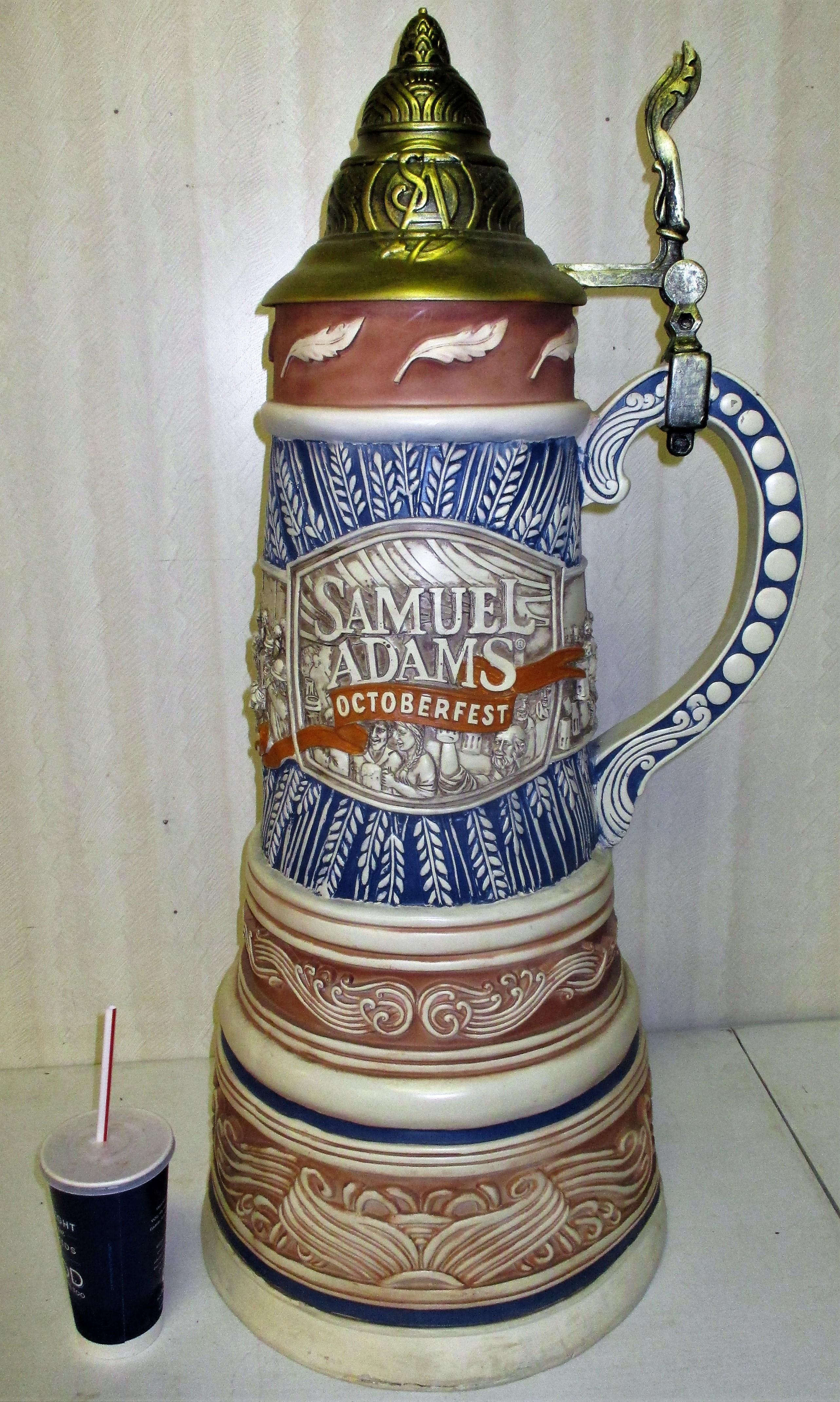 84: Extra Large Samuel Adams Stein