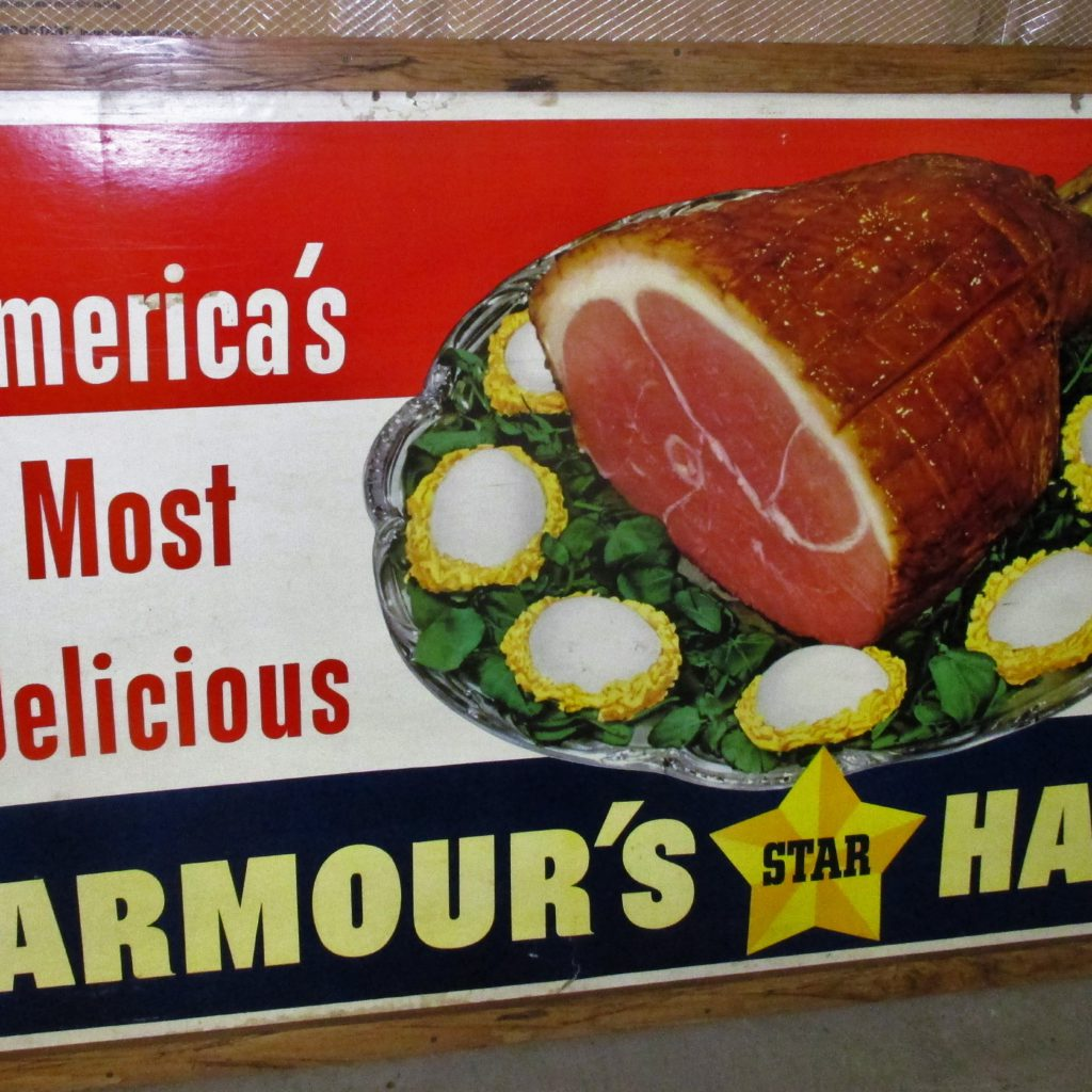 91: Armour's Star Ham Cardboard Sign