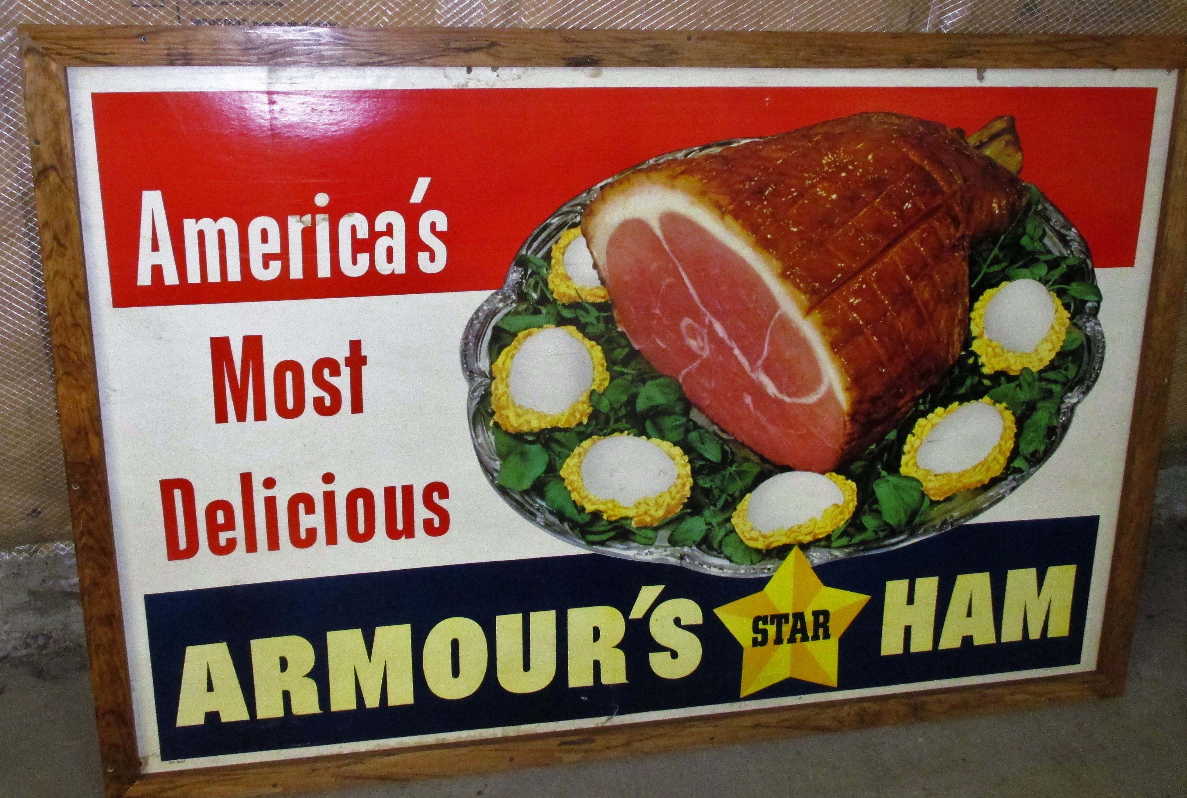 91: Armour's Star Ham Cardboard Sign