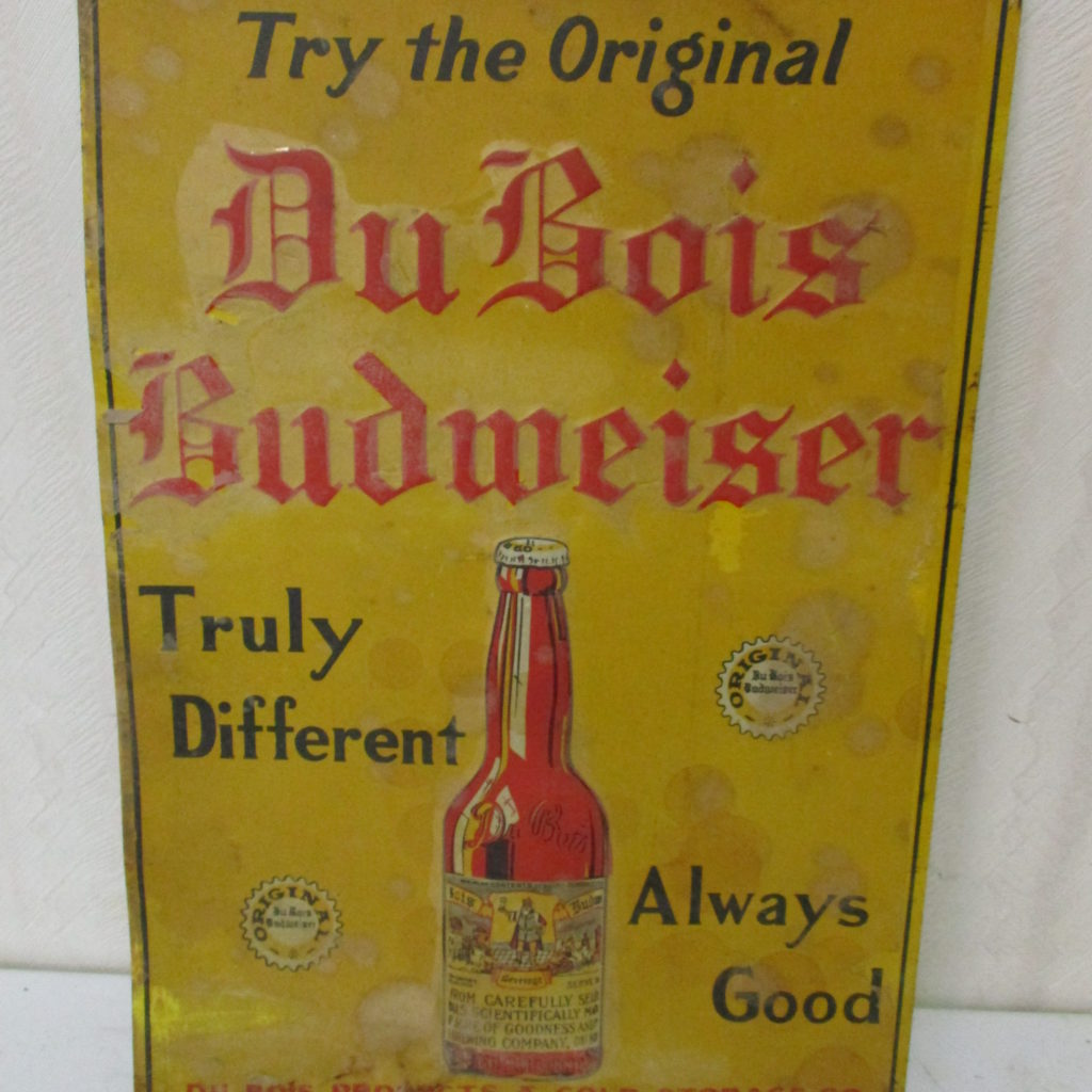 Lot 108: DuBois Budweiser Tin Sign