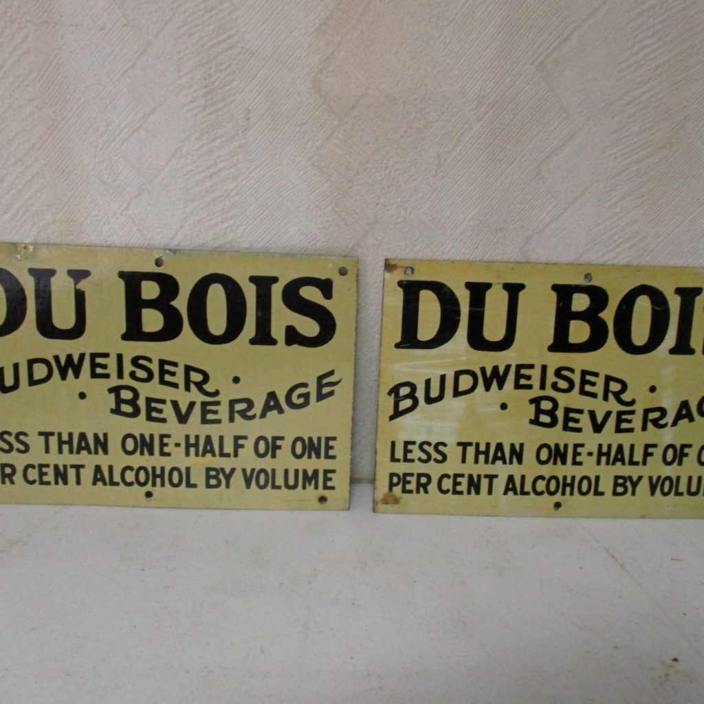 Lot 111: (2) DuBois Budweiser Beverage Signs