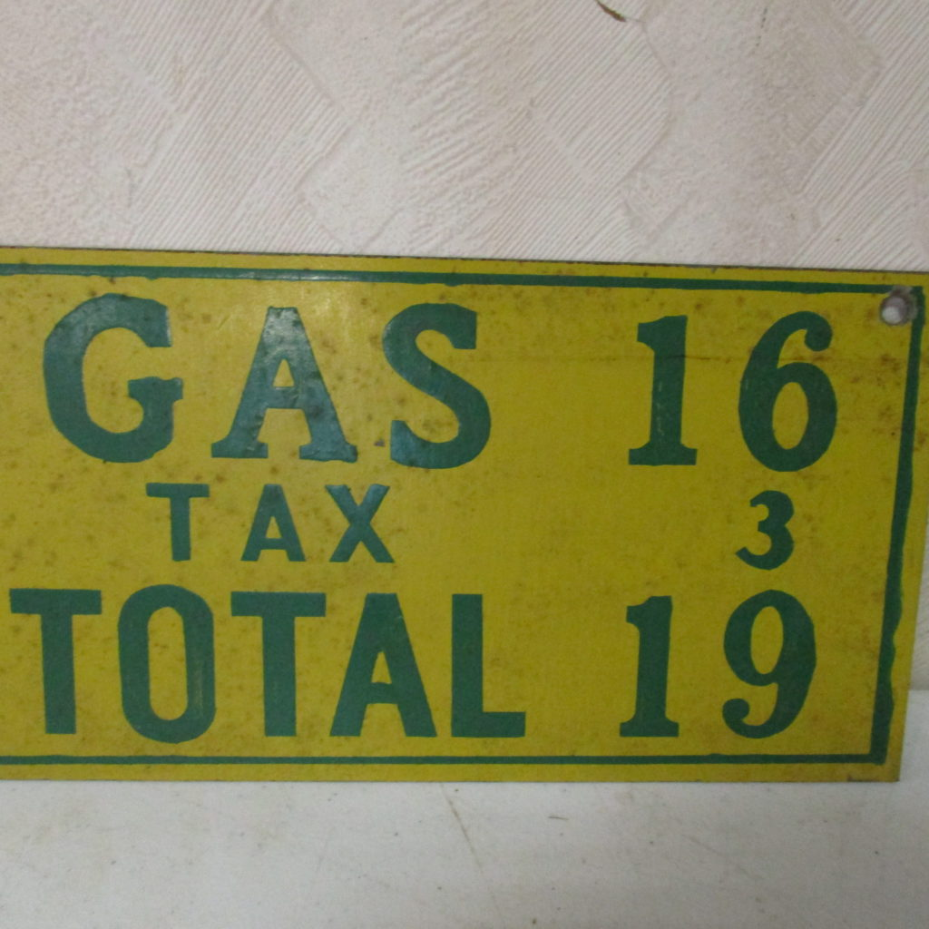 Lot 116:  Small Gas Price Sign