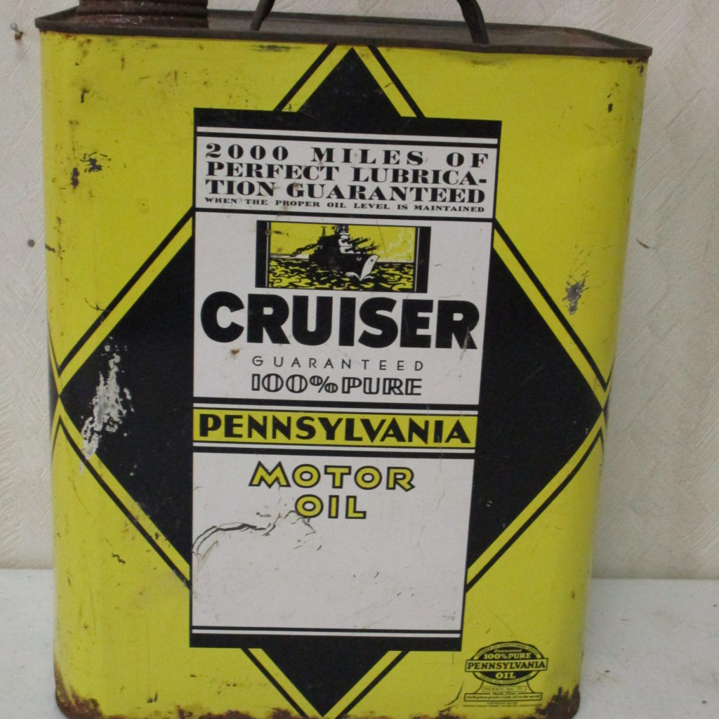 Lot 117: Cruiser 2 Gal Motor Oil Can