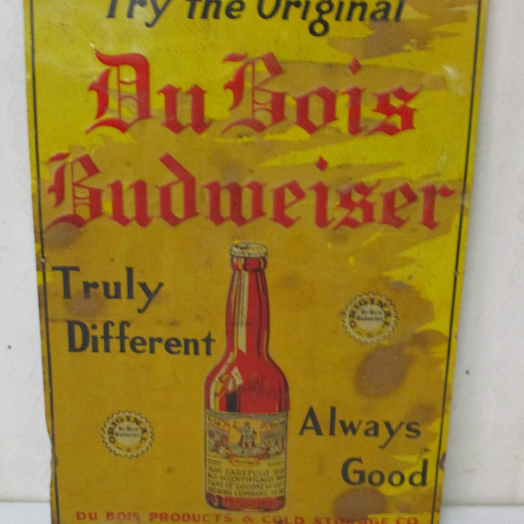 Lot 118: DuBois Budweiser Tin Sign