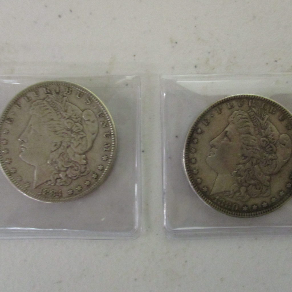 Lot 12: 1880 And 1884 Morgan Dollars (by The Piece, Take 2)