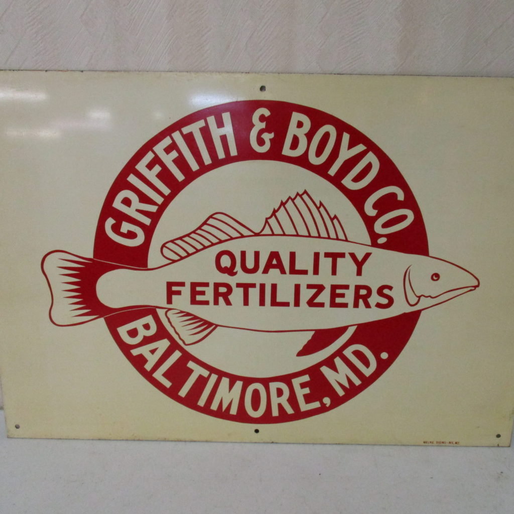Lot 121: Griffith & Boyd Co Fertilizer Tin Sign - SST