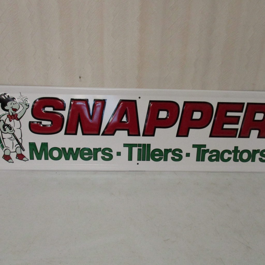 Lot 127: Snapper Mowers Sign - SST