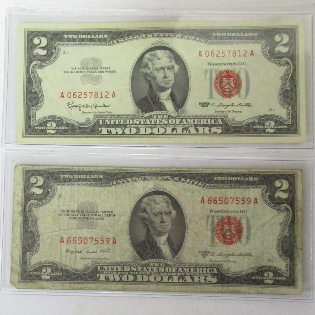 Lot 13: 1953 And 1963 Red Seal Notes