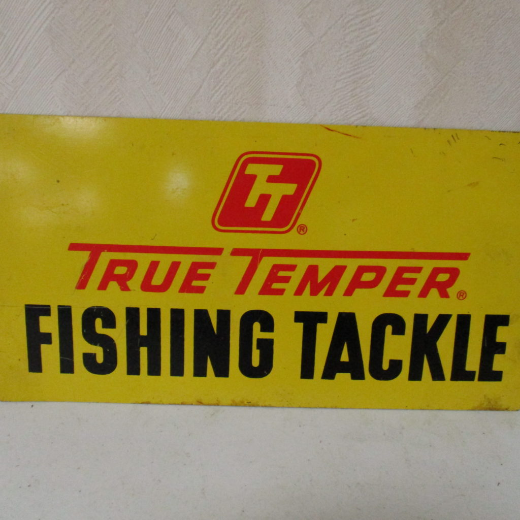 "Lot 131: TruTemper Fishing Tackle DST Sign - 7"" X 13"""