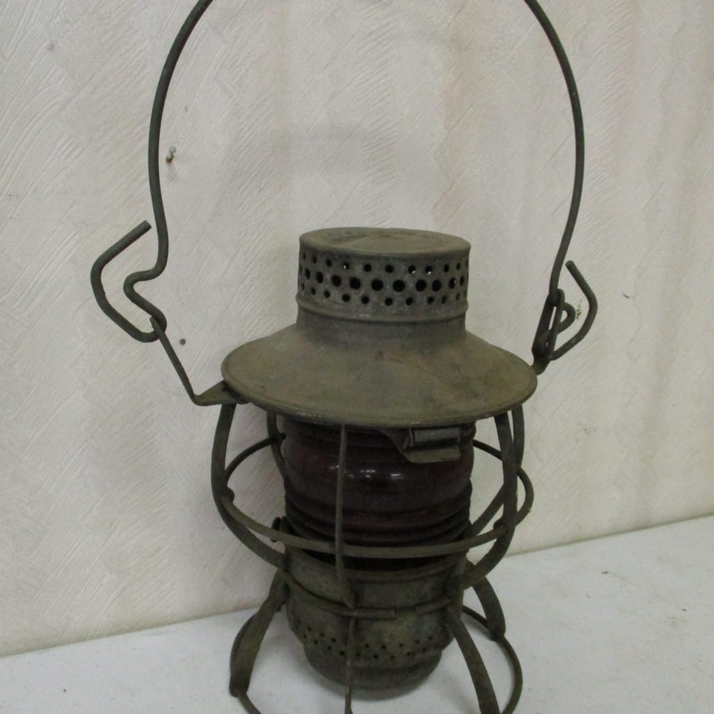 Lot 134: PRR Red Globe Lantern