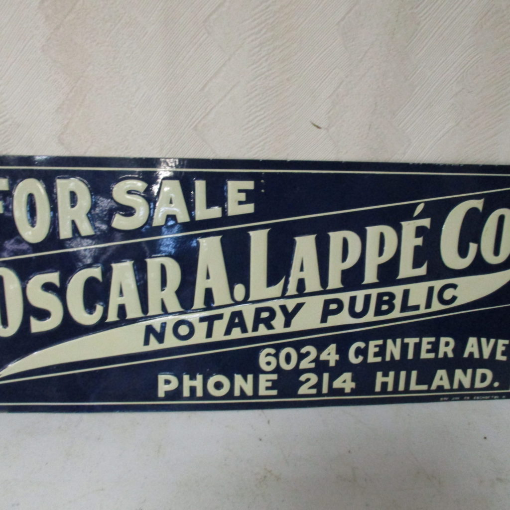 "Lot 143: Notary Public SST Sign - 6"" X 14"""