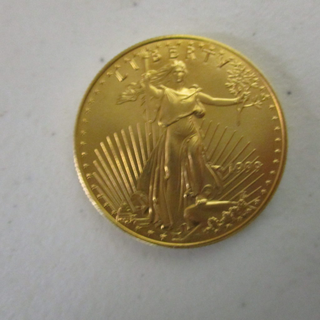 Lot 15: 1999 $50 1oz Gold Coin