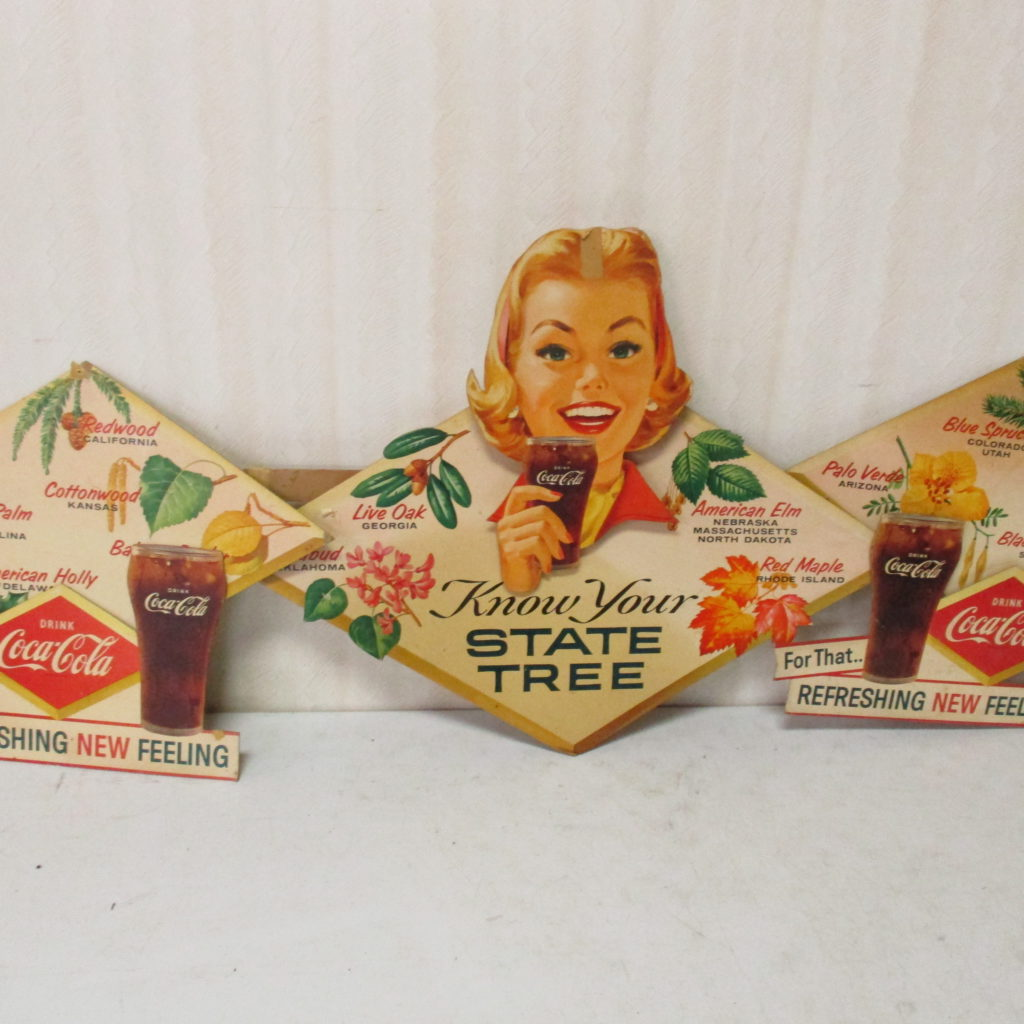 Lot 159: Coca-Cola Diecut Cardboard Tree Backbar Display