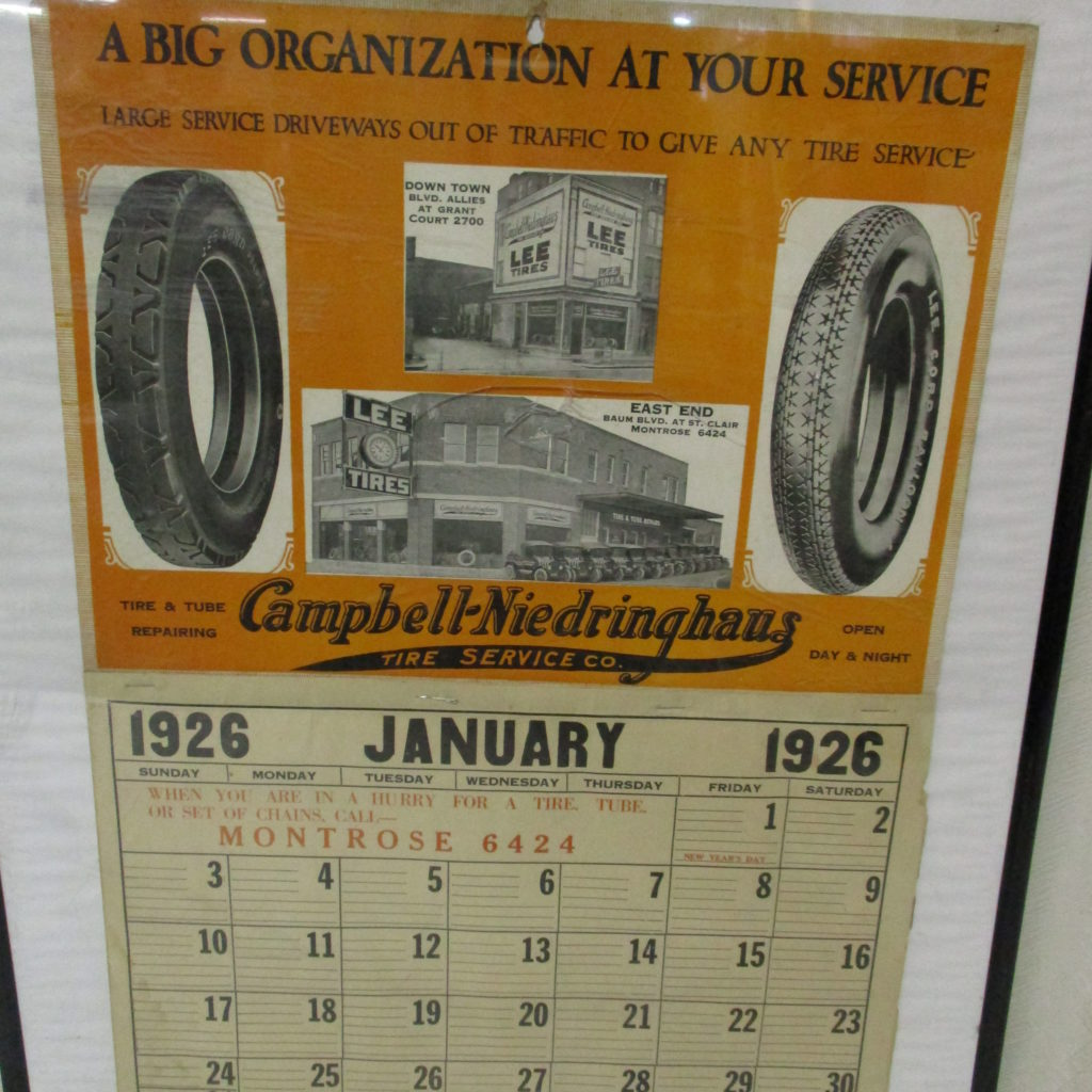 Lot 161: 1926 Lee Tires Calendar (great Graphics)
