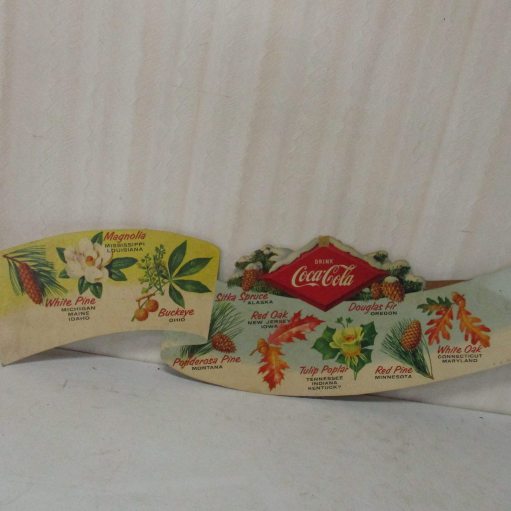 Lot 175: Coca-Cola Cardboard State Tree Display