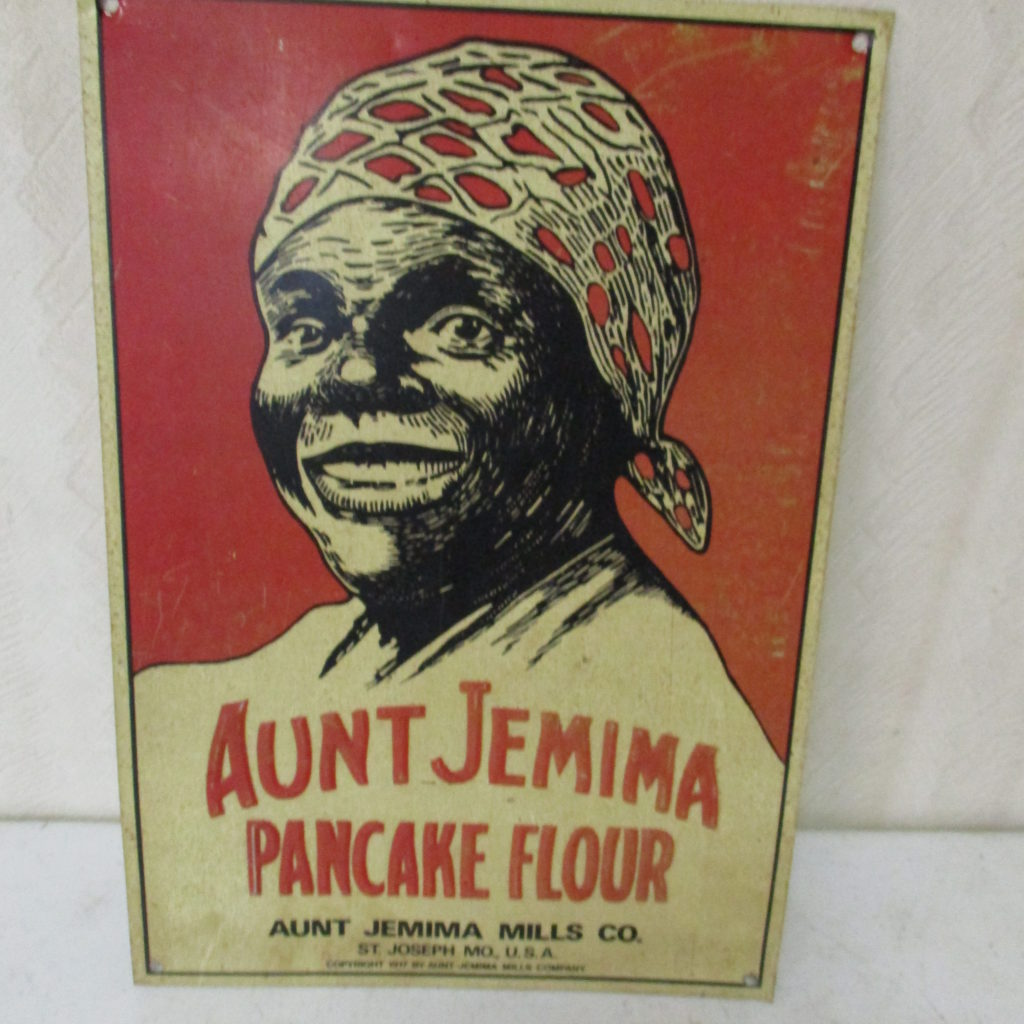 "Lot 179: Aunt Jemima SST Sign - 9"" X 13"""