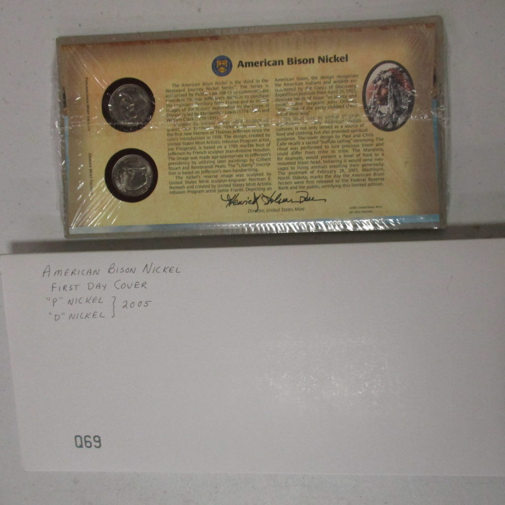 Lot 18: 2005 American Bison Nickel 1st Day Cover
