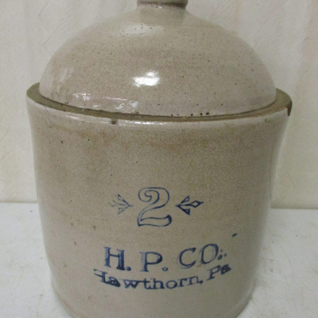 Lot 188: HP 2 Gallon Hawthorne Crock