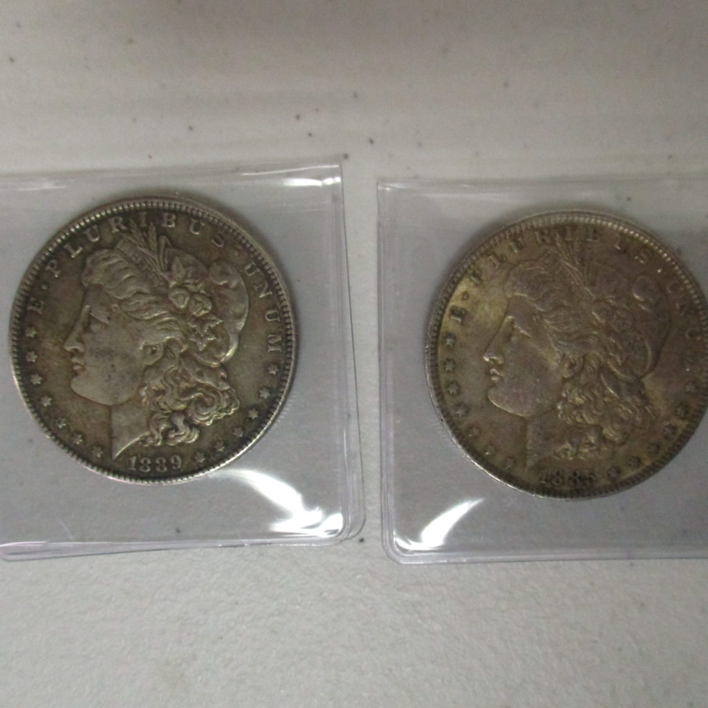Lot 19: 1885 And 1889 Morgan Silver Dollars (by The Piece, Take 2)