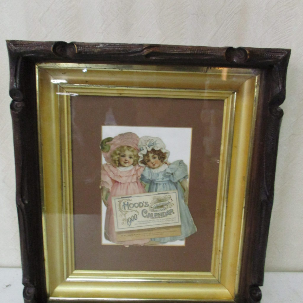 Lot 194: 1900 Hood's Calendar - Framed