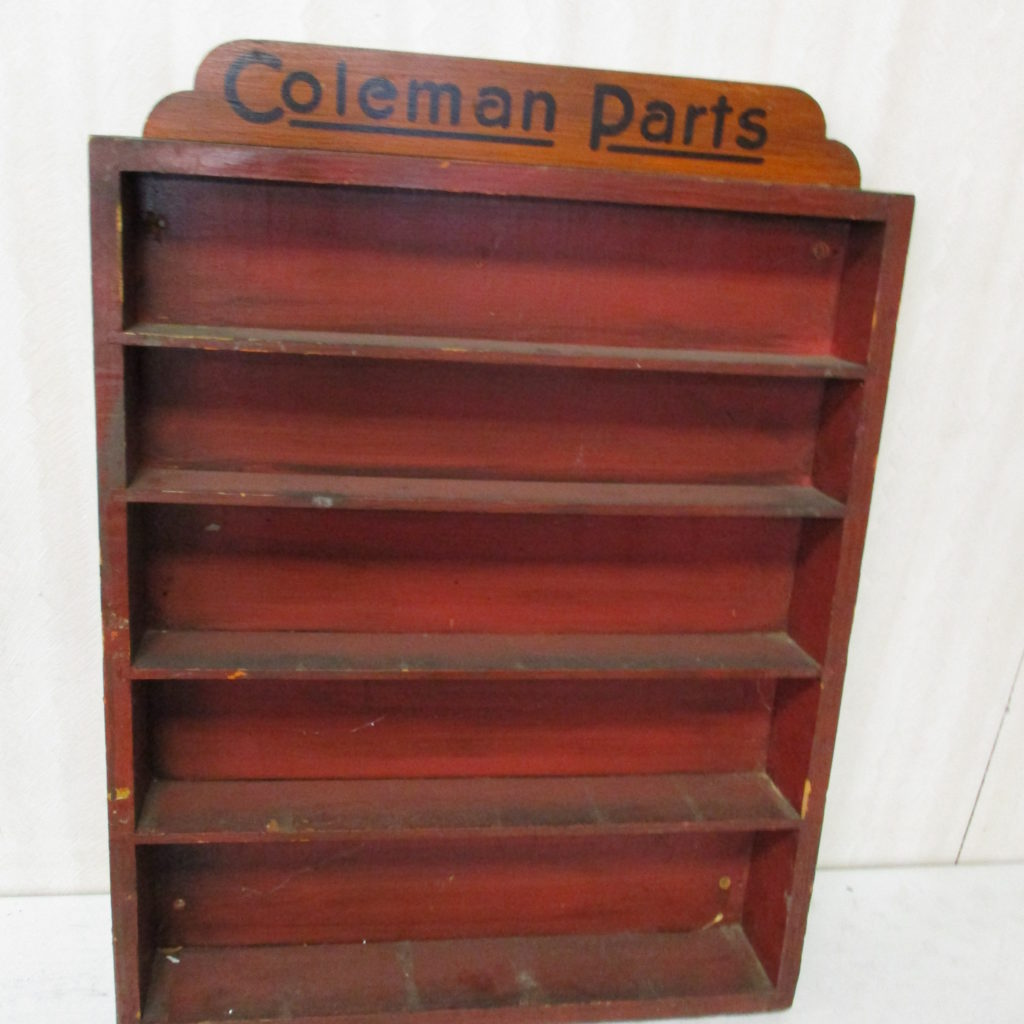 "Lot 195: Coleman Parts Shelf - 22"" X 29"""