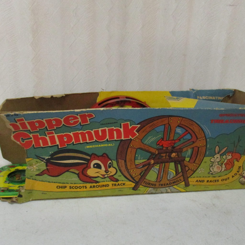 Lot 207: Chipper Chipmunk Treadmill Toy