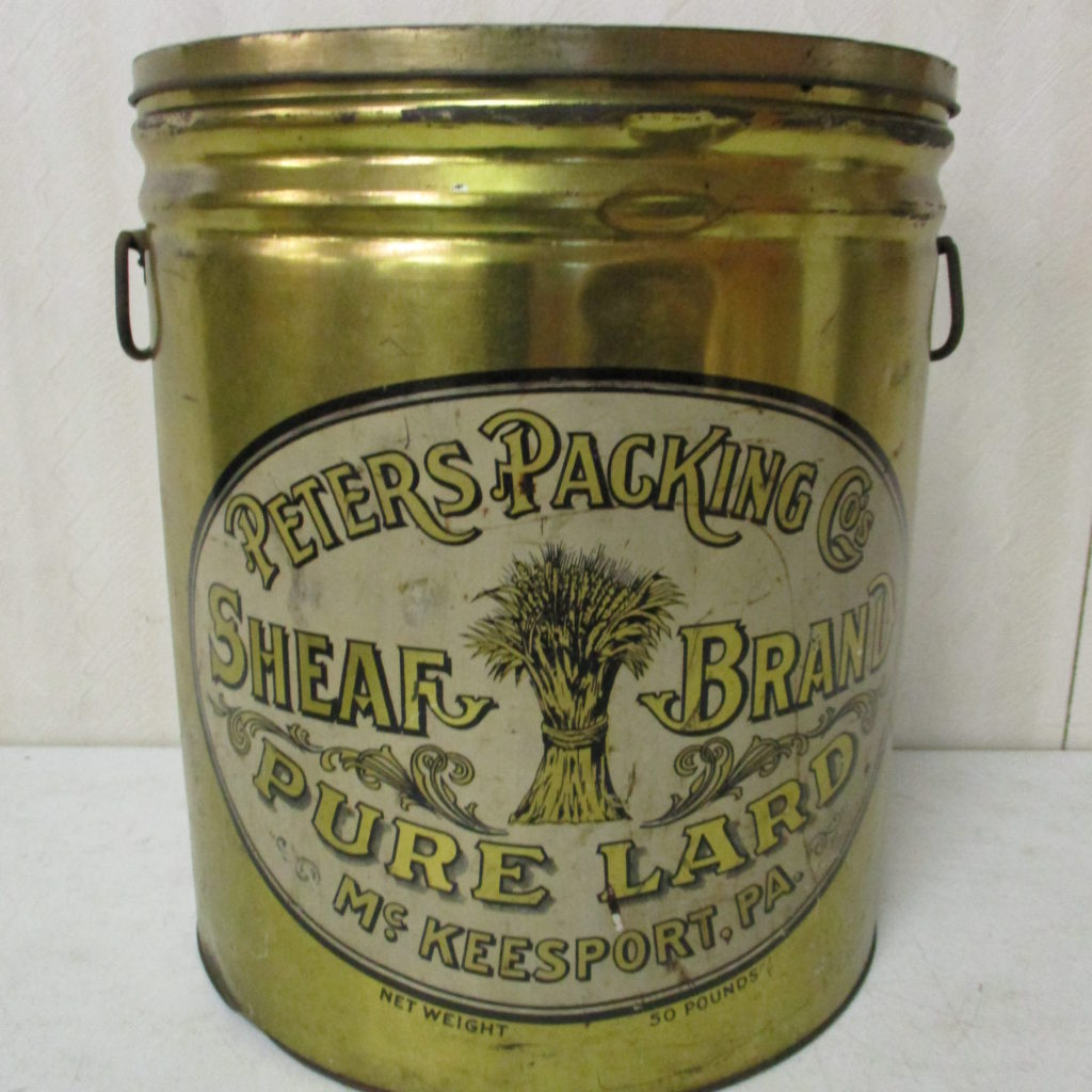 Lot 208: Sheaf Brand Lard Tin