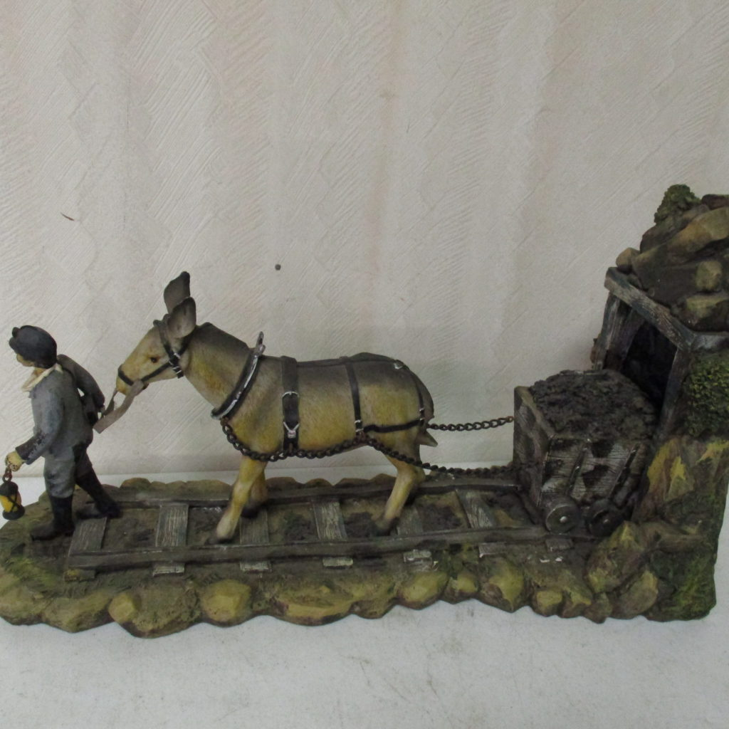 Lot 211: Mule And Coal Miner Working Figurine
